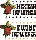 Meksykańskiej grypy świń — Wektor stockowy