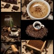 Stock Photo: Coffee decoration collection