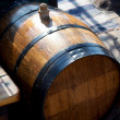Old wooden wine barrel — Stock Photo