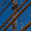 Tall sail ship rigging — Stock Photo #5077535