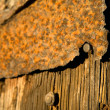Stock Photo: Rusty plate