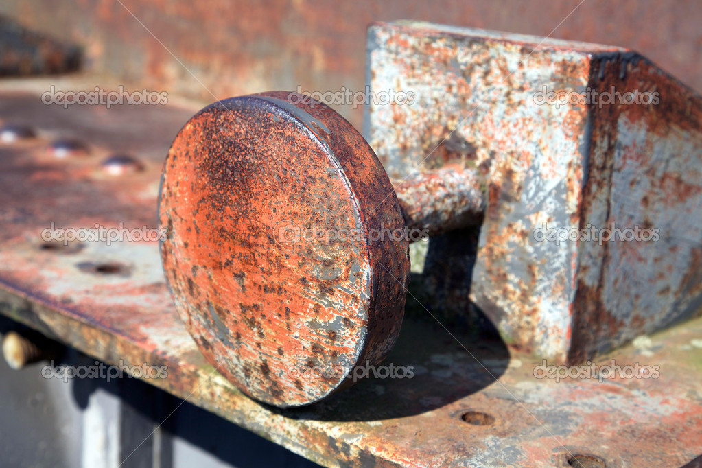 Rusty old stopper from gun — Stock Photo #5201563