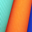 Background of colored corrugated cardboard - Stock Photo