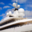 Yacht radar technology and communications equipment - Stock Photo