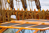 Ropes on a sail ship — Stock Photo