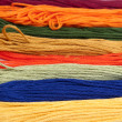 Colorful cotton craft thread — ストック写真