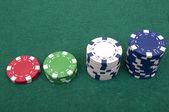 Fichas de poker — Foto Stock