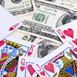 Royal flush in poker - Stock Photo