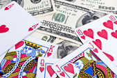Royal flush in poker — Stock Photo