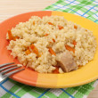 Pilaf with carrots — Stock Photo