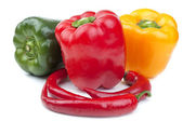 Bell peppers isolated — Stock Photo