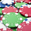 Poker chips background — Stockfoto