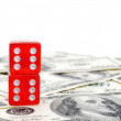 Royalty-Free Stock Photo: Dice and money