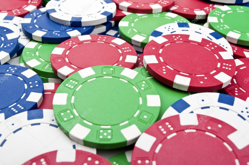 Poker chips background — Stock Photo © DimaSobkoD #5351003