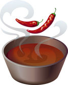 Chili pot — Stock Vector