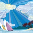 Royalty-Free Stock Imagen vectorial: Sunny vacations
