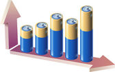 Battery graph — Stock Vector