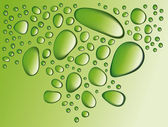 Gocce verde — Vettoriale Stock