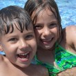 Children in the pool — Stock Photo #5037546