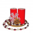 Stock Photo: Two red big candles