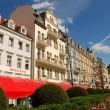 Stock Photo: In center of Karlovy Vary, Czech Republic