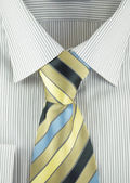 Shirt with striped silk necktie — Stock Photo