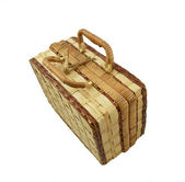 Wicker box on a white — Stock Photo