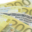 Euro and dollar banknotes - Stock Photo