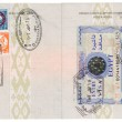 Passport with Egyptian visas and stamps — Stock Photo #5268365
