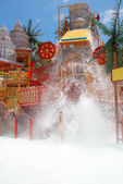 Lost city attraction in the water park — Stock Photo