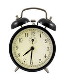Retro alarm clock showing 7 hours and 30 minutes — Stock Photo