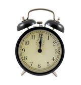 Retro alarm clock showing twelve hours — Stock Photo