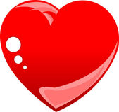 Stylized love red heart isolated on white — Stock Vector