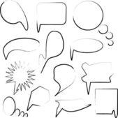 套卡通语音和泡沫 — 图库矢量图片