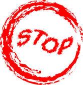 Illustrazione vettoriale di segnale di stop isolato — Vettoriale Stock