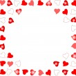 Vector de stock : Notes background randomly placed glowing hearts