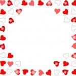 pozadí poznámek náhodně rozmístí zářící srdce — Stock vektor
