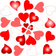 Love sign romantic hearts design background — Imagen vectorial