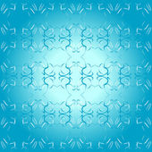 Seamless ornament blue decorative background pattern wallpaper — Stock Vector