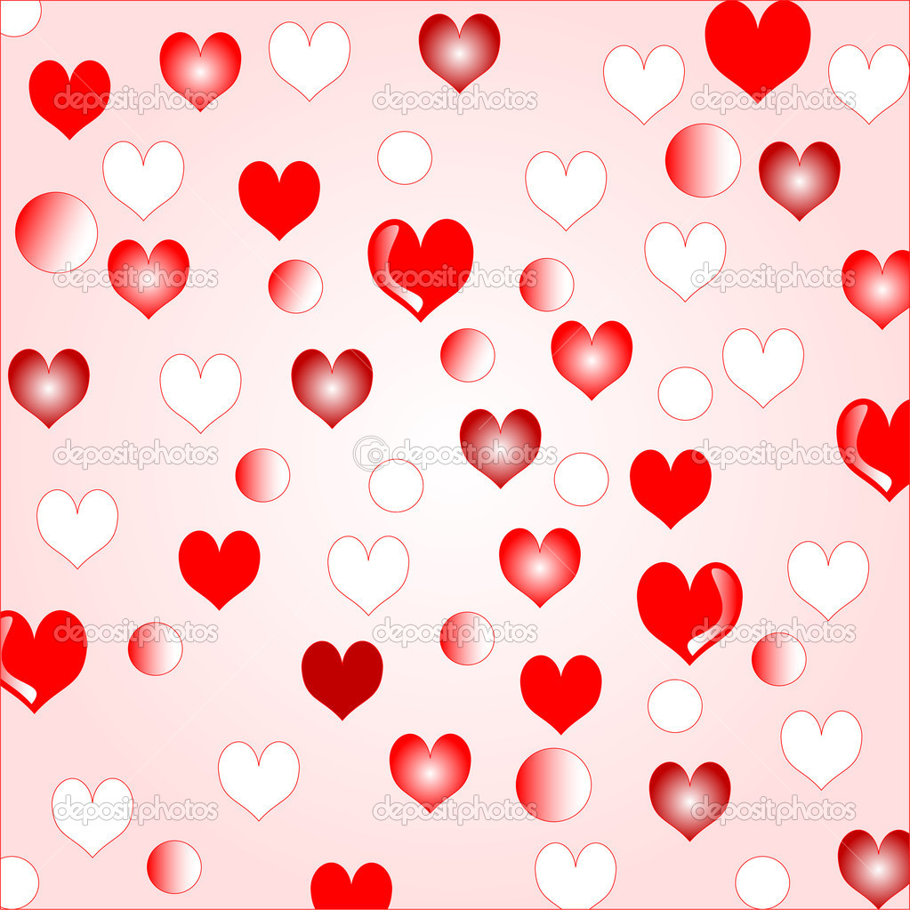 Love hearts background border design for creating invitations greetings and posters — ベクター素材ストック #5258389