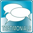 Stock Vector: Blue Button Web icon testimonials