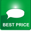 Green web button with best price — Imagen vectorial