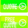 Постер, плакат: Green web sign free quote