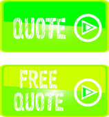Green web sign free quote — Stock Vector