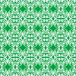 Old Seamless damask green wallpaper — Stock Vector
