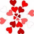 Valentine hearts pattern romantic greeting card — 图库矢量图片