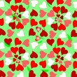 Floral colorful valentines hearts design background — Vector de stock