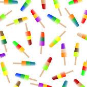 Lody owocowe kolorowy na białym tle na białym tle — Wektor stockowy