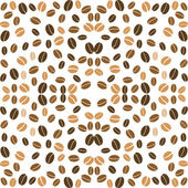 Coffee background seamless with many beans wallpaper — Stock Vector