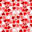 Floral valentines hearts romantic design background — Vector de stock